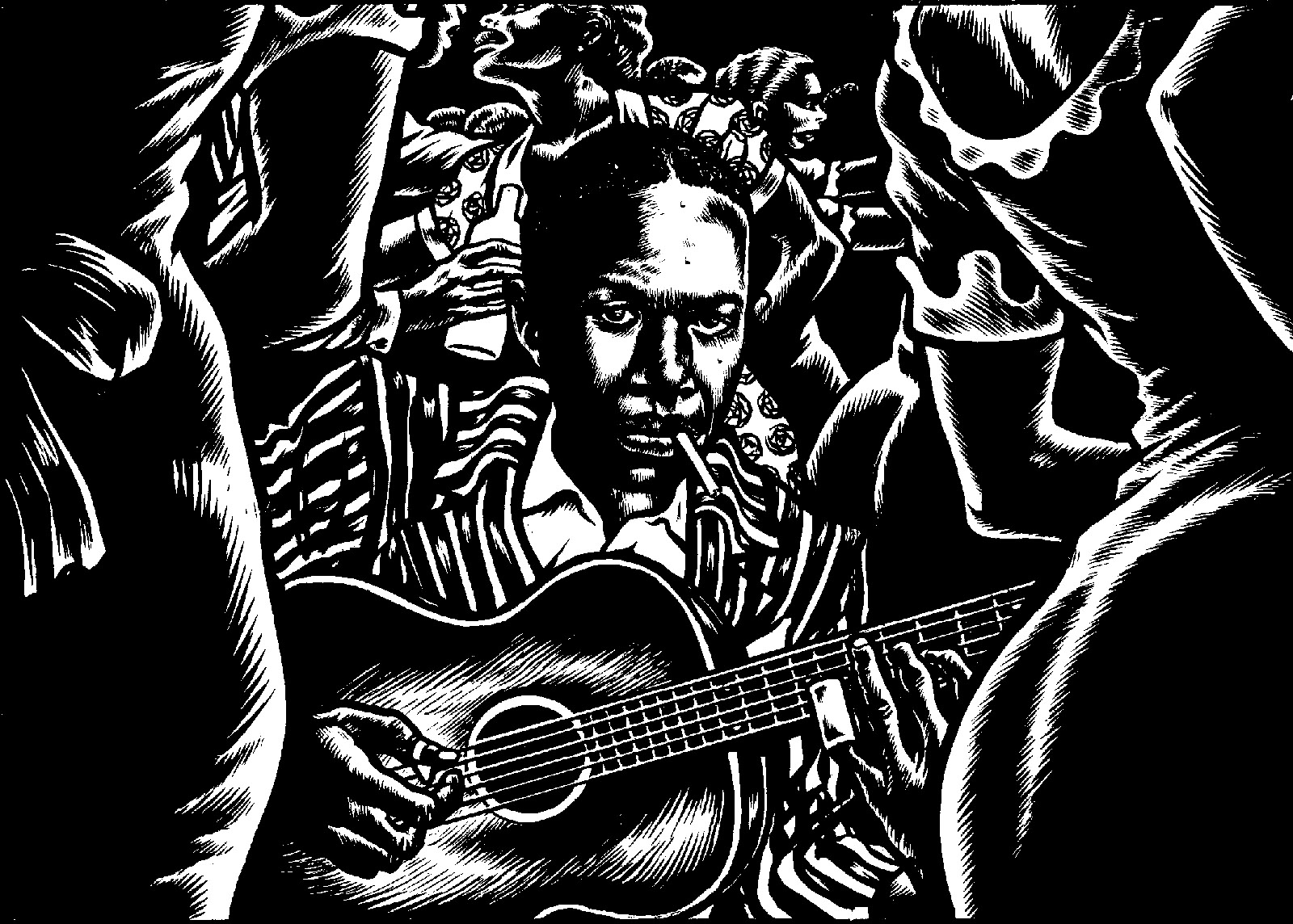 Robert Johnson; from Mezzo and J.M. Dupont's graphic novel Love in Vain