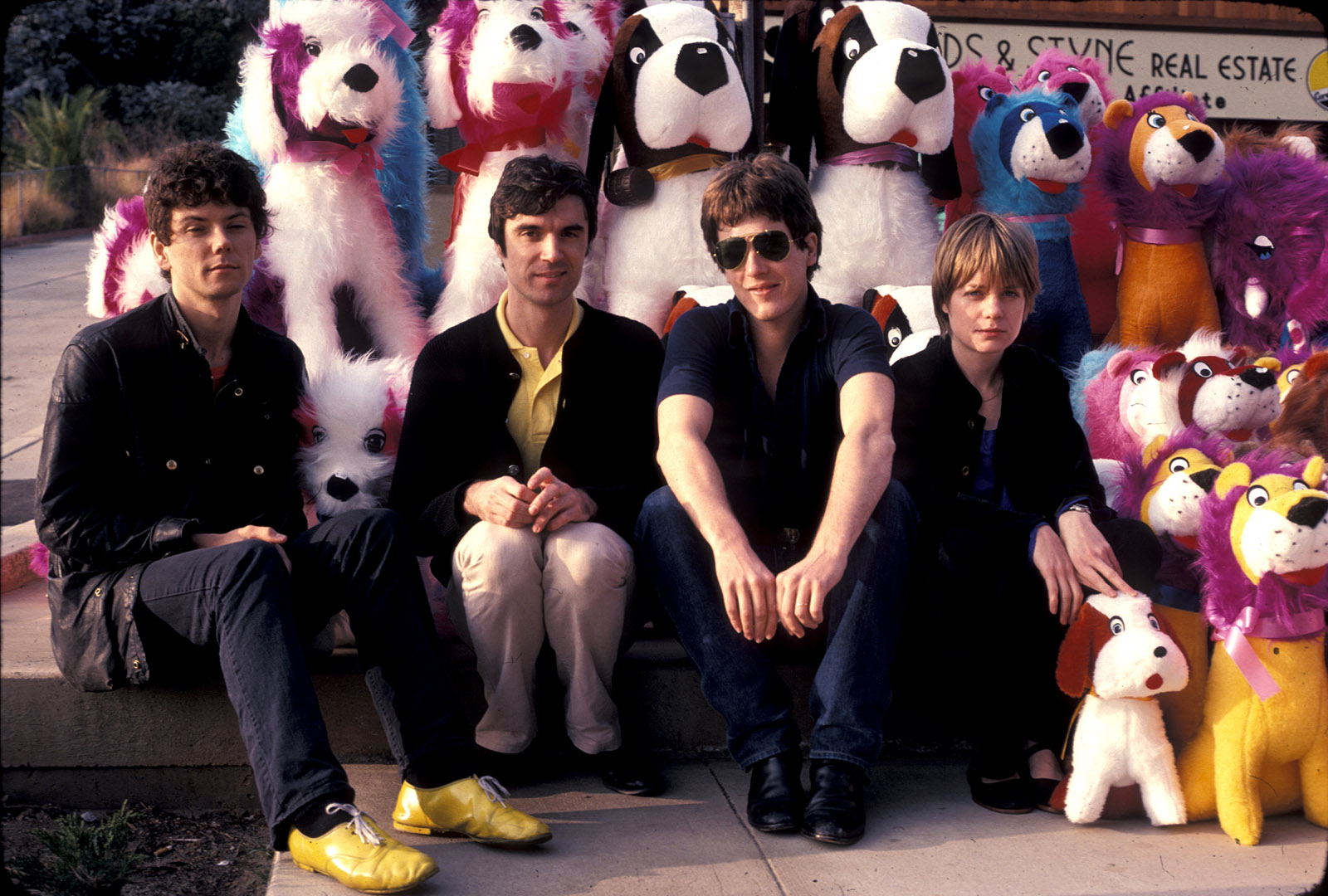 Jerry Harrison, David Byrne, Chris Frantz, and Tina Weymouth of Talking Heads