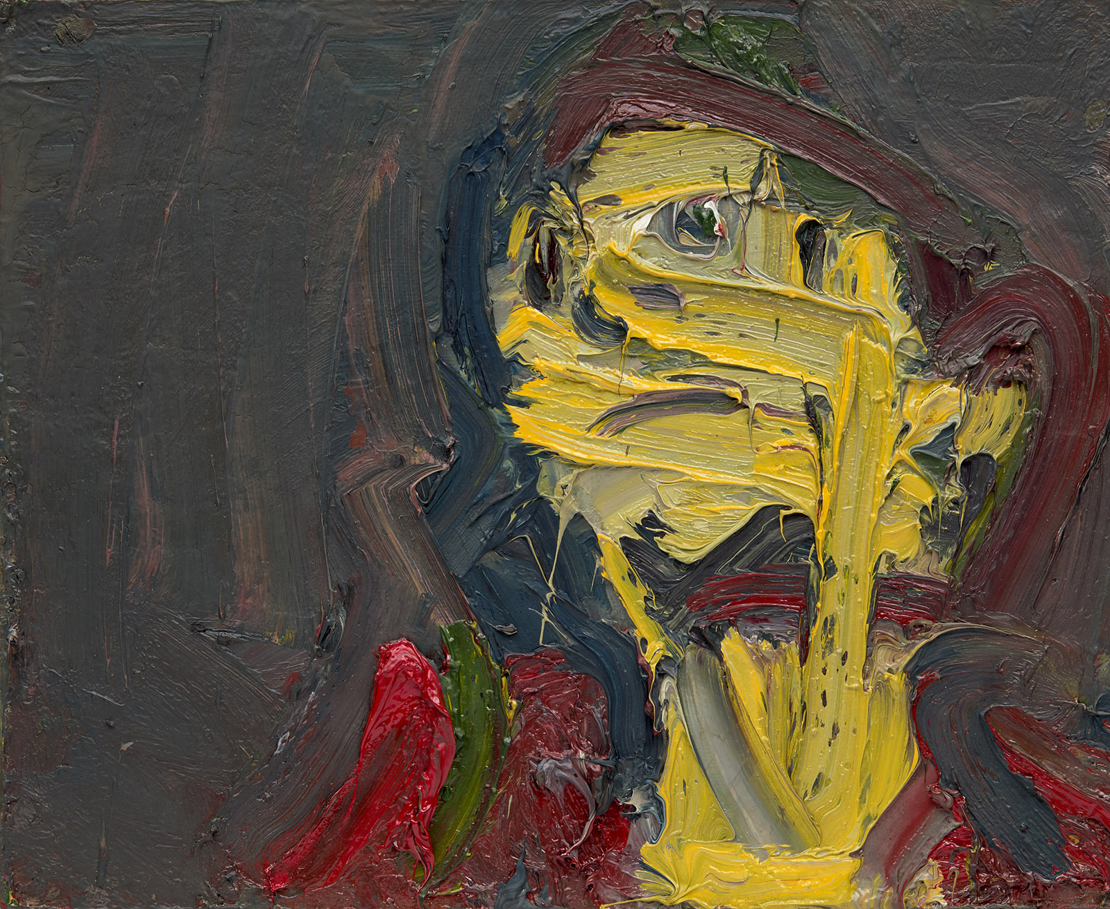 Head of J.Y.M.; painting by Frank Auerbach