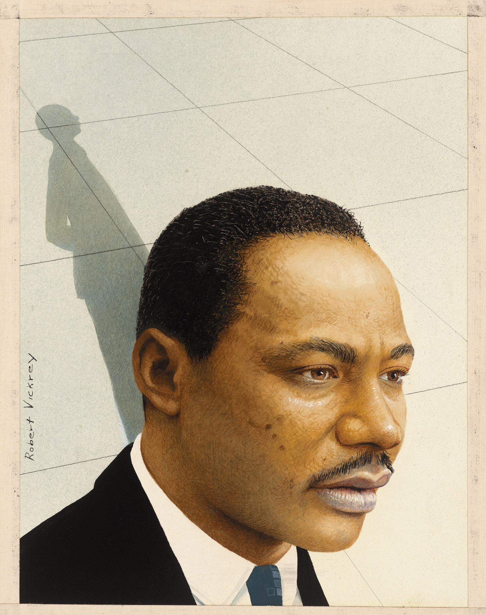 Martin Luther King Jr.; portrait by Robert Vickrey