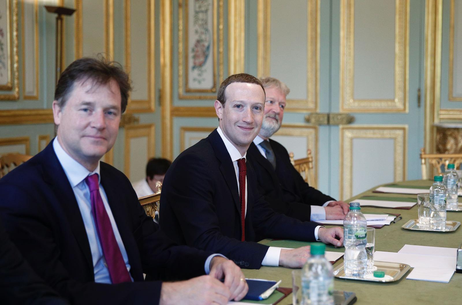 Clegg with Facebook CEO Mark Zuckerberg