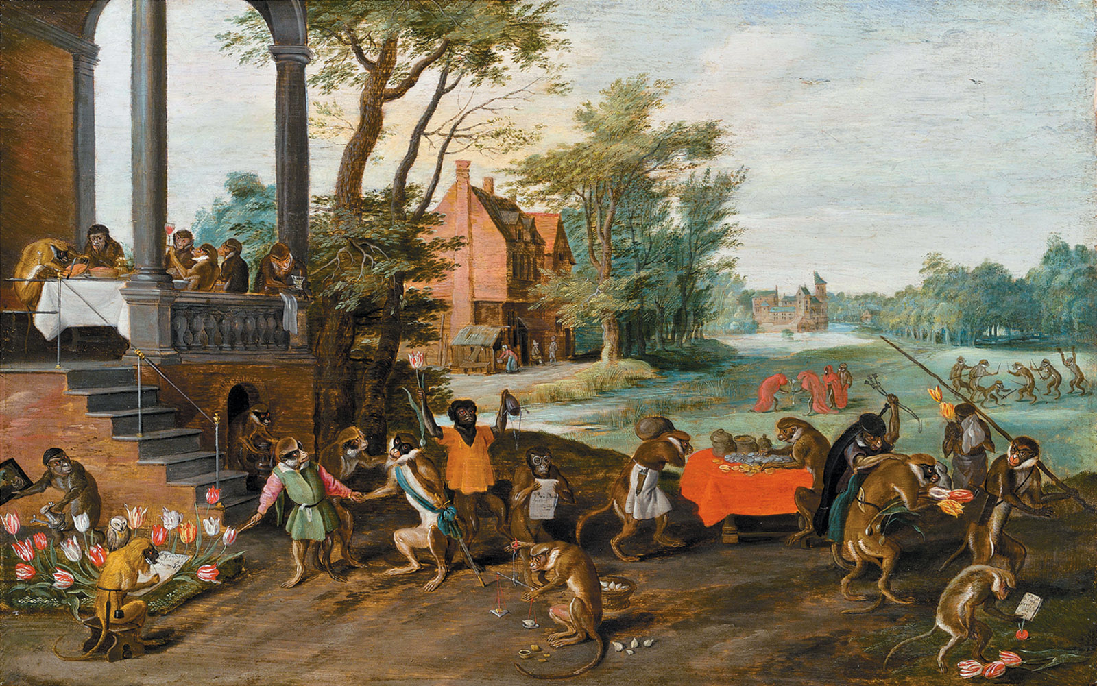 Satire on Tulip Mania; painting by Jan Brueghel the Younger