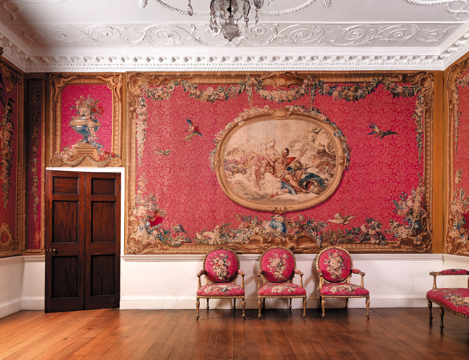 A reconstruction of the tapestry room at Croome Court, Worcestershire