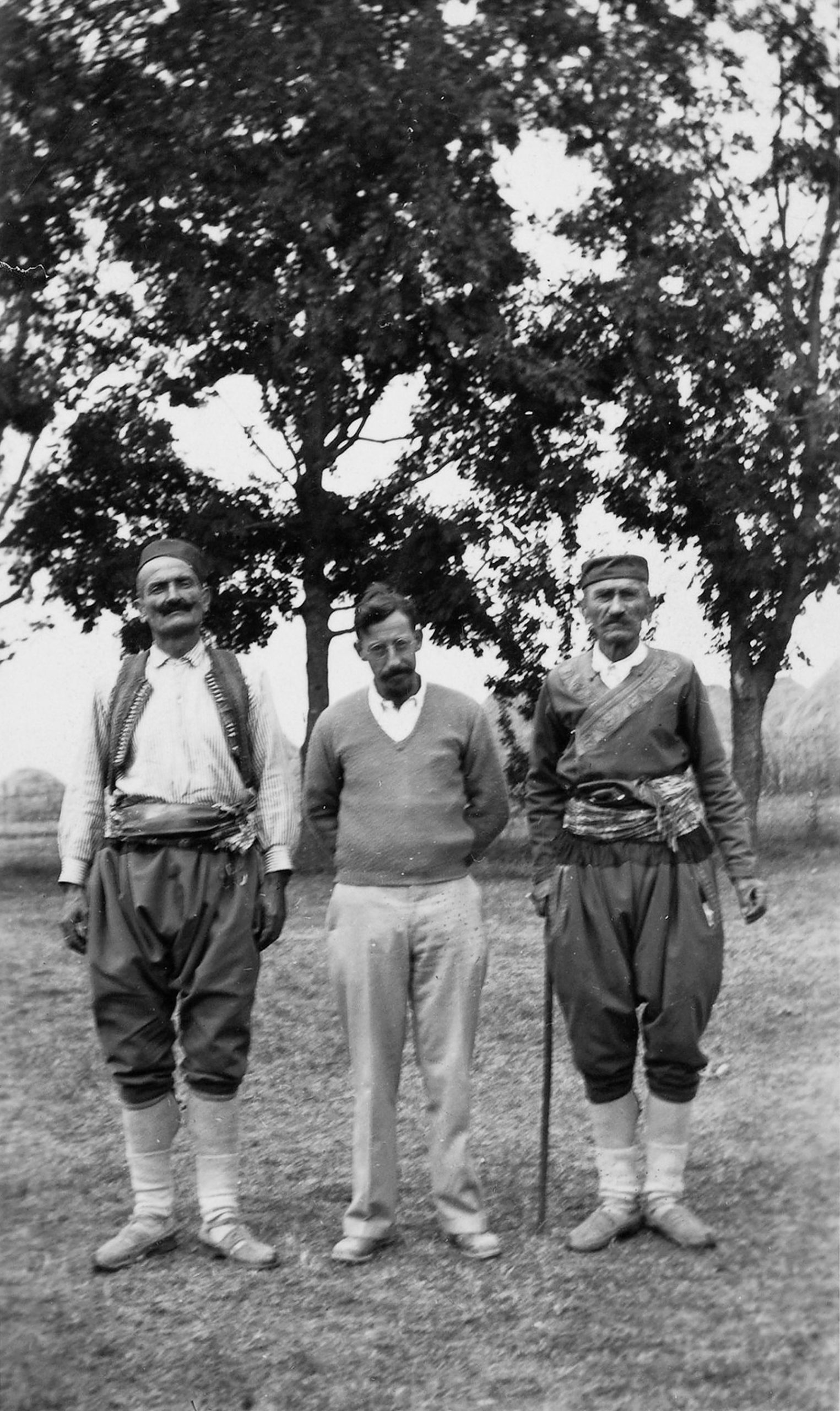Milman Parry with singers Jovan Govedarica and Mićo Savić