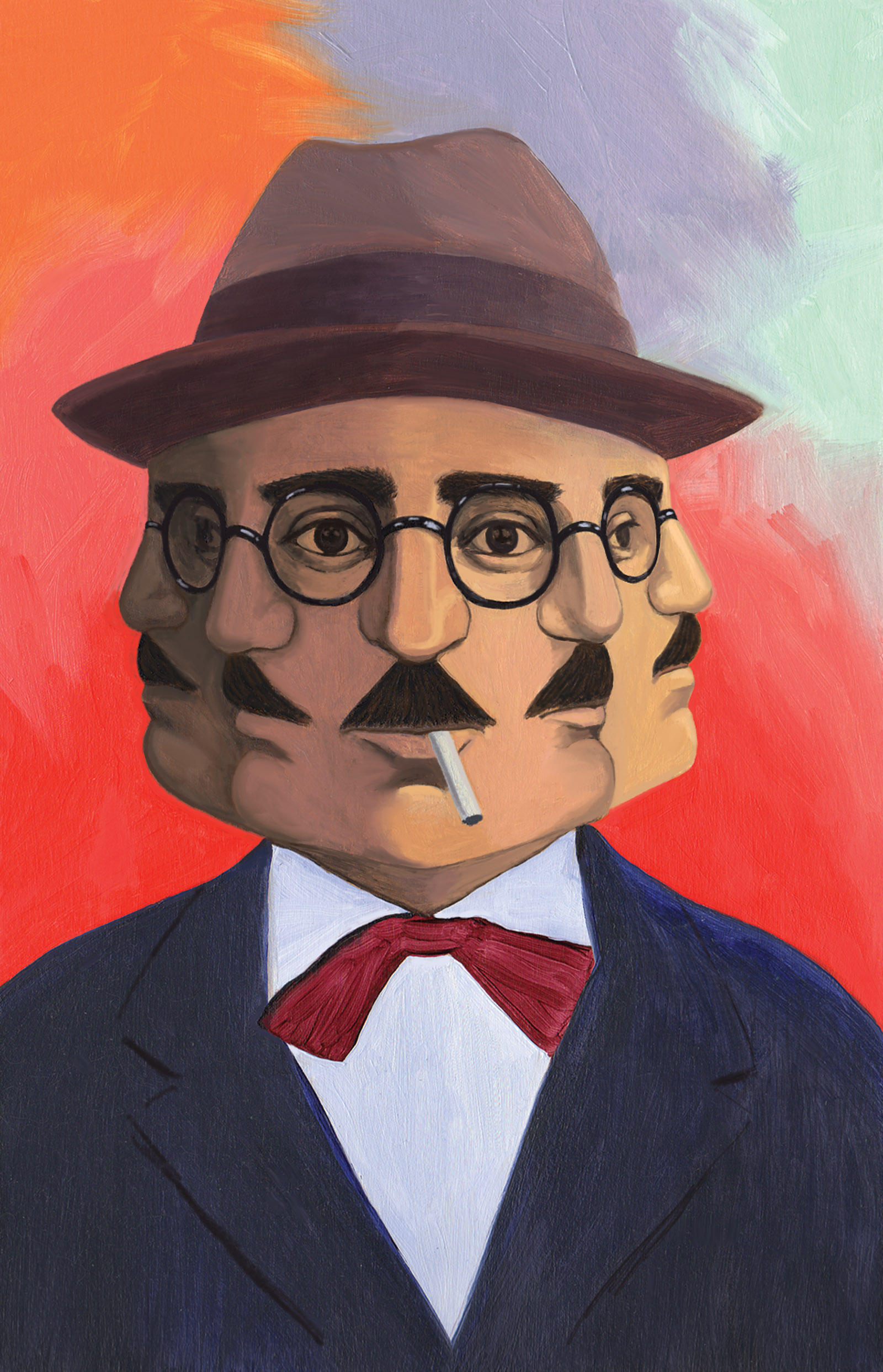 Fernando Pessoa; painting by Anna Bak-Kvapil
