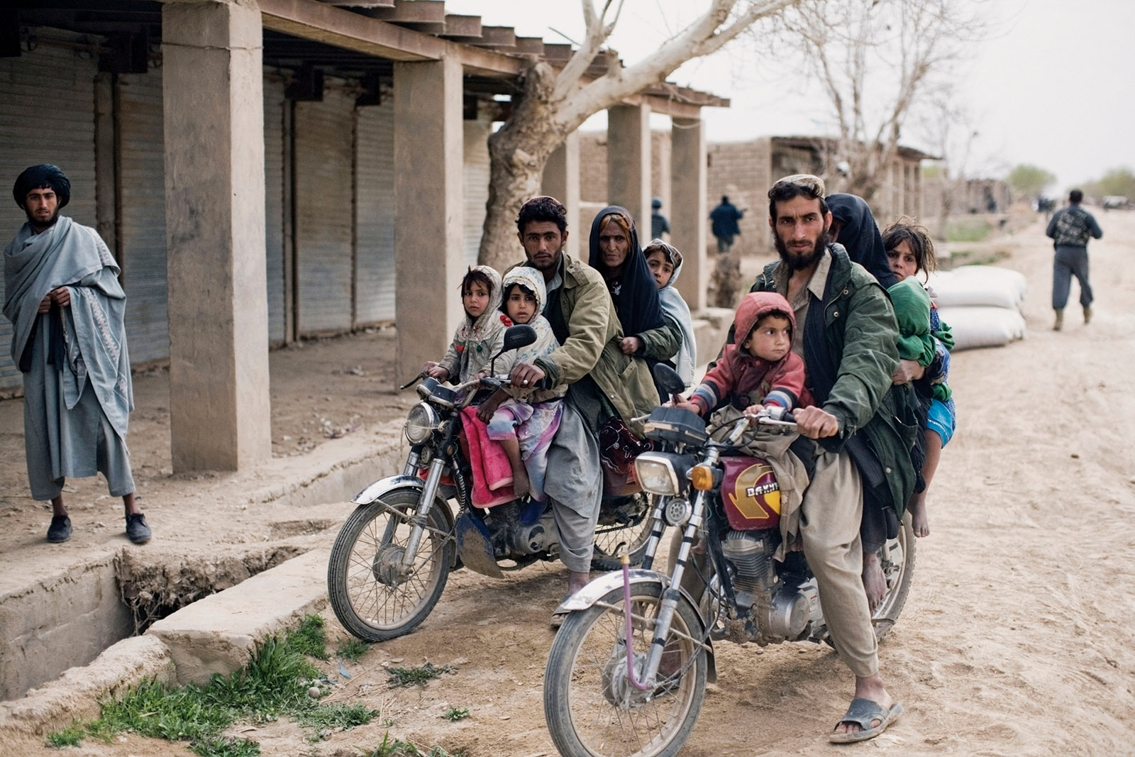 Residents of Marja returning to their village after it was retaken from the Taliban by US and Afghan forces, 2010